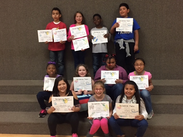 Third grade Science Fair winners named