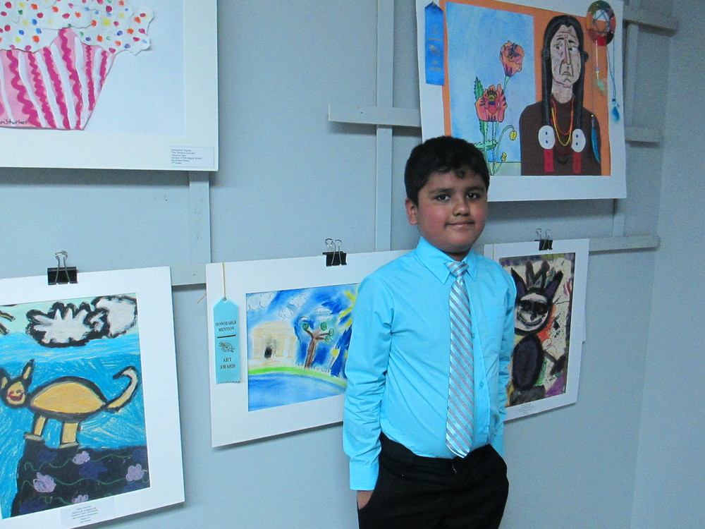 Student artist recognized