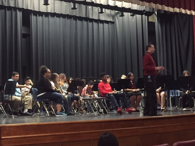 YMS band in Spring concert