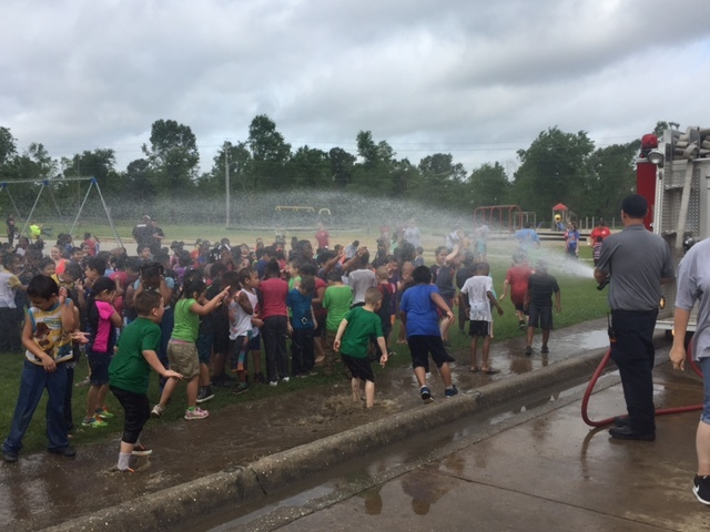 Fire Department soaks Field Day