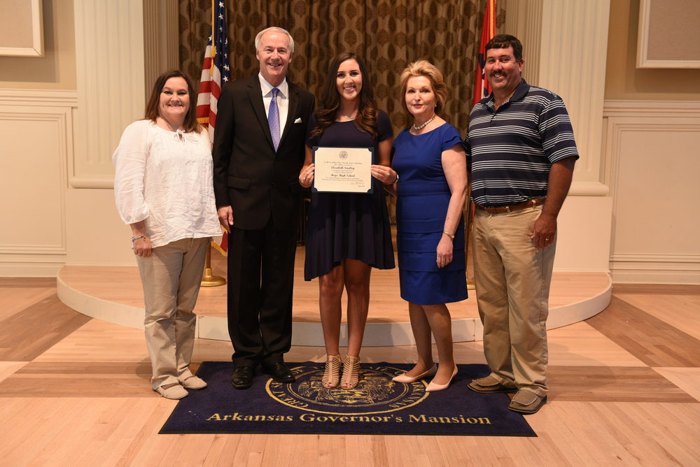 Governor honors students