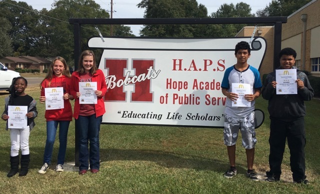 HAPS Names Students of Month