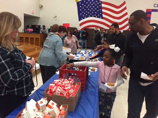 Donuts for Dads at Clinton Primary