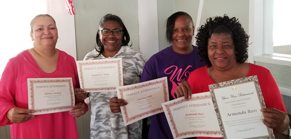District nutrition workers recognized