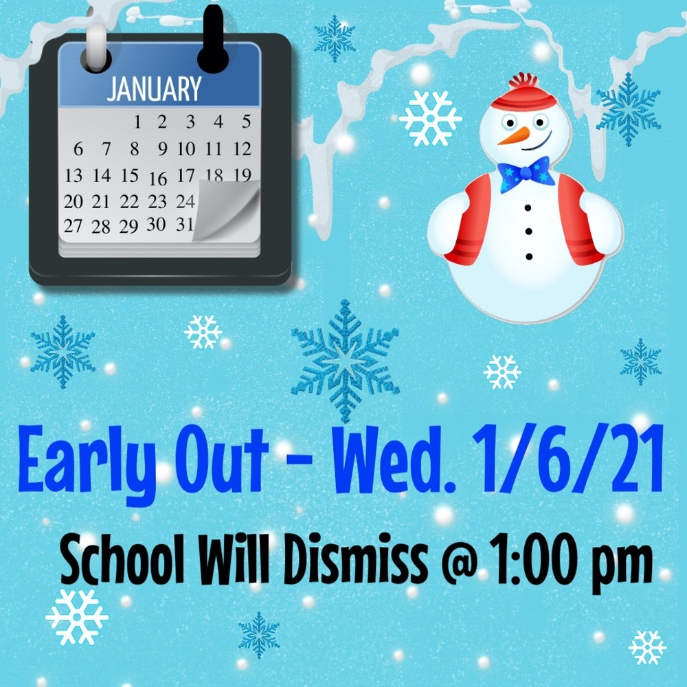 Early dismissal Wednesday