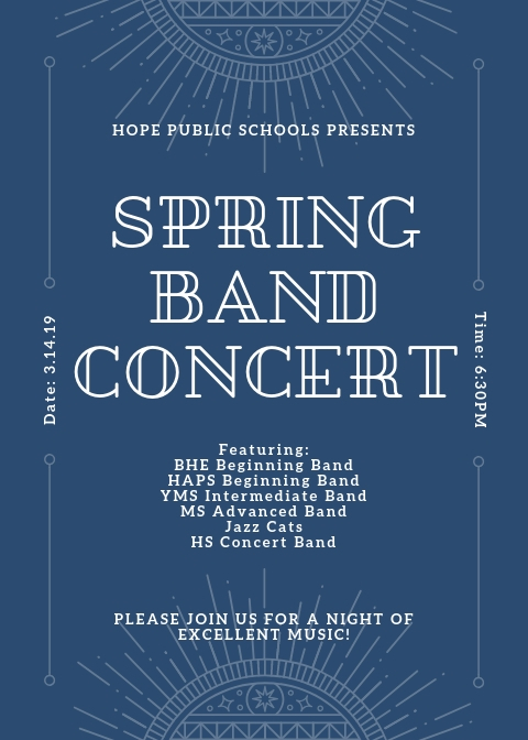 Band program concert set Thursday