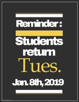 Students return to class Tuesday