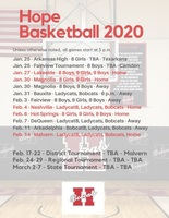 Hope Basketball 2020