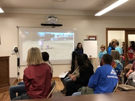 Students spotlight successes for board