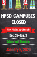 HPSD holiday break slated