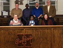 Johnson recognized for board service