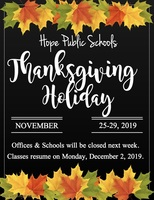 HPS to observe Thanksgiving break