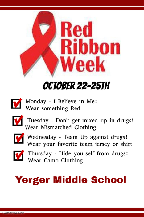 Yerger Middle School Red Ribbon Week