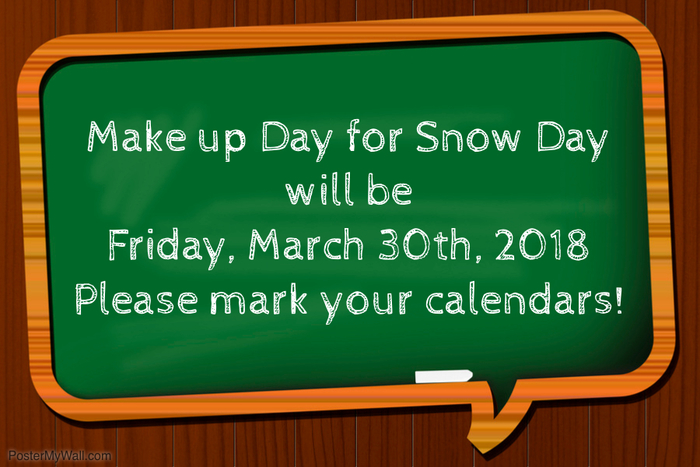 Snow Day make up date